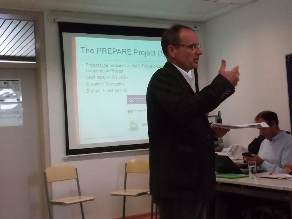 Reinhard Bauer stellt das PREPARE-Projekt vor